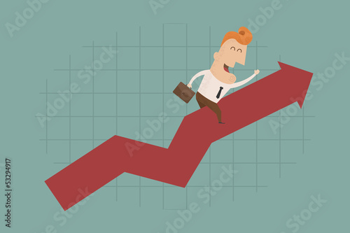 Businessman graph up , eps10 vector format