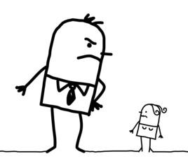 big man & small woman