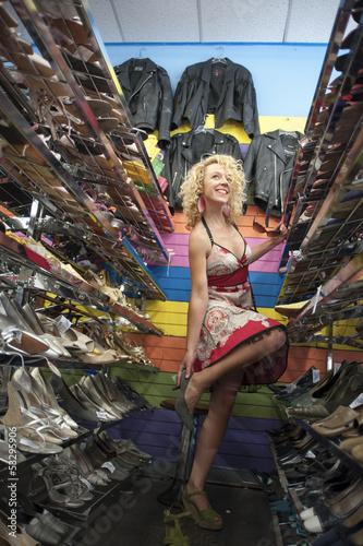 Happy shoe shopping