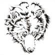 Bear head tattoo vector