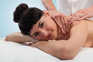 Beautiful woman getting a massage