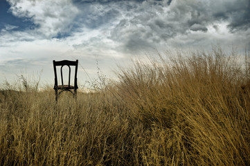 Chair out in the fields