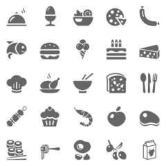 food gray icons