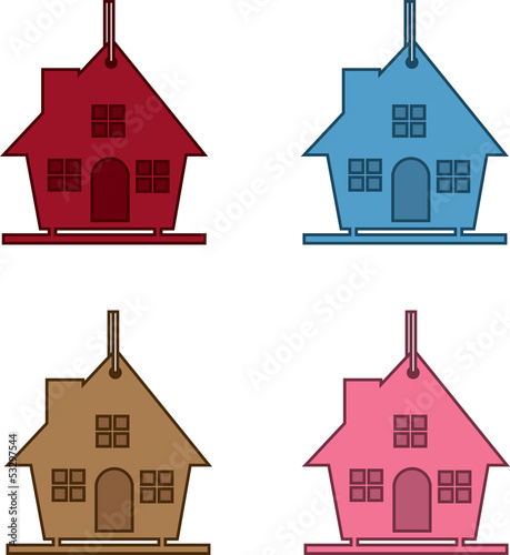 Birdhouse in four different colors