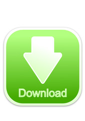 Download button green square (vector)