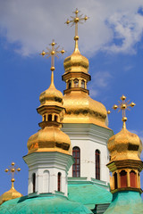 golden domes of Kiev-Pechersk monastery
