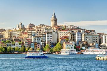 View of Galata district, Istanbul, Turkey
