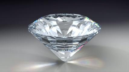 drehender geschliffener Diamant