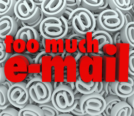 Too Much Email Symbol @ Sign Symbol Background Mail