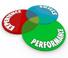 Experience Skills Performance Venn Diagram Employee Review