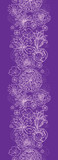 Vector purple lace flowers elegant vertical seamless pattern