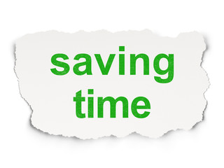 Time concept: Saving Time on Paper background
