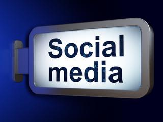 Social media concept: Social Media on billboard background