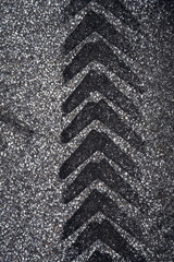 Tire Track on Asphalt