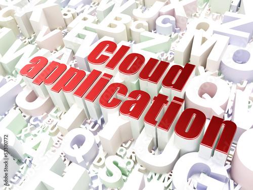 Technology concept: Cloud Application on alphabet backgrou