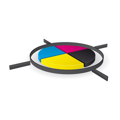 CMYK print registration mark - vector illustration