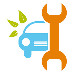 Car service sign - healthy environment, bio concept