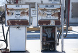 Old rusty gas pumps
