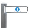 Entrance tourniquet, detailed turnstile, stainless steel, arrow