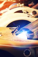 shiny sports cars