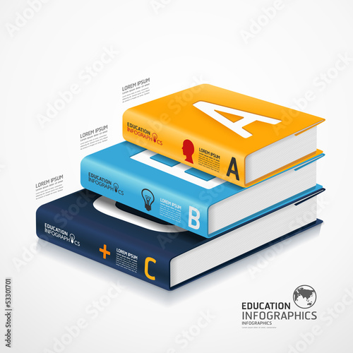 modern infographic Template with book and globe banner / can be