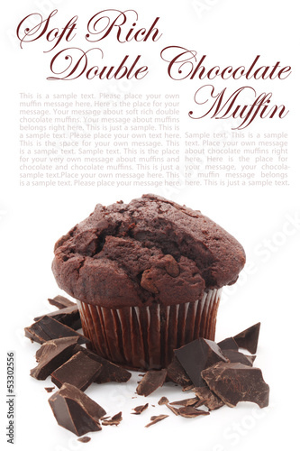 Soft Rich Double Chocolate Muffin