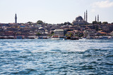 Golden Horn channel and Istanbul,