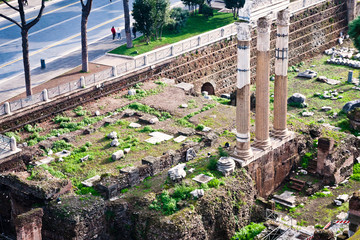 columns and ruins on Capitoline Hill