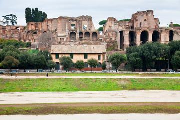 Palatine and ground of Circus Maximus in Rome