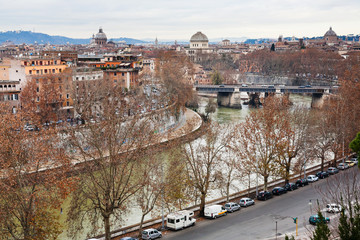 autumn panorama of Rome from Aventine Hill