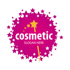 vector red logo of the stars for cosmetics