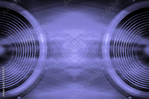 Purple audio speakers music background