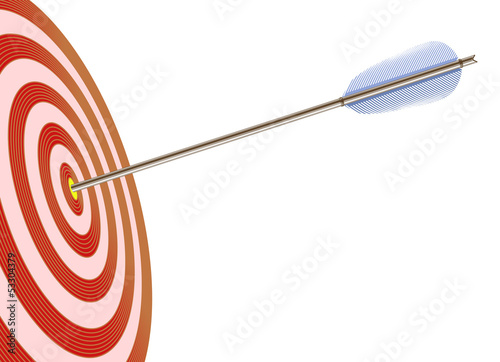 Arrow in to target (vector illustration)