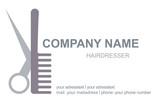 Fototapety Visitenkarte Friseur Logo