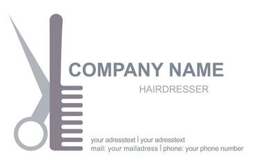 Visitenkarte Friseur Logo