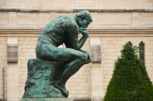 Papiers peints Statue Le penseur de Rodin