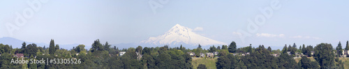 Mount Hood Oregon Rural Area Panorama