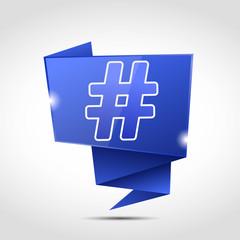 bulle origami cs5 : hashtag