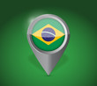 Brazil map application point label symbol