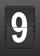 Analog panoda dokuz  rakamı