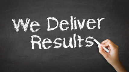 We deliver Results Chalk Illustration