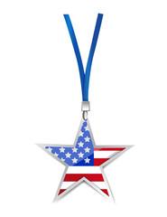 usa flag star illustration design