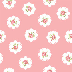 Vector floral seamless pattern with roses