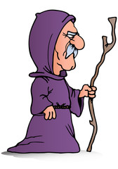 priest hold cane