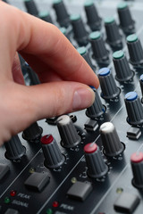 Hand Tuning Audio Mixer