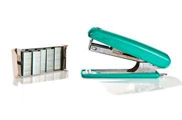 old max stapler on white background