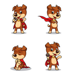 Superhero Puppy Dog 01. Vector EPS8 file.