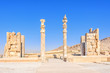 Scenicn view's Gate of All Nations in Persepolis, Iran.