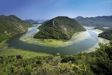 View of Lake Skadar, Montenegro