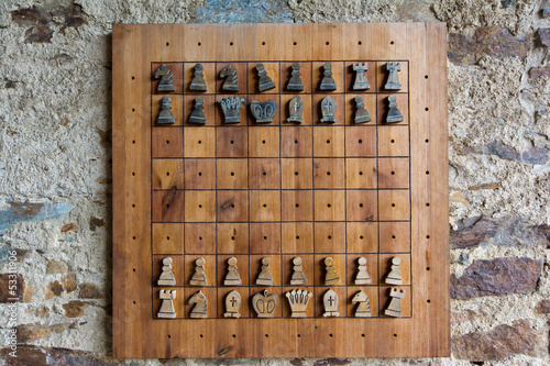 Chess game - castle Velhartice